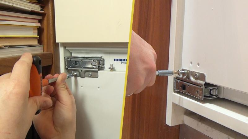 Kühlschranktür schließt nicht richtig - Türscharnier