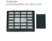 ORIGINAL Abluftfilter Kassette Schaumfilter M2288 Staubsauger Dirt Devil 2288003