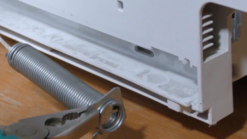 Siemens Geschirrspüler - Federn und Seilzug der Türe wechseln
