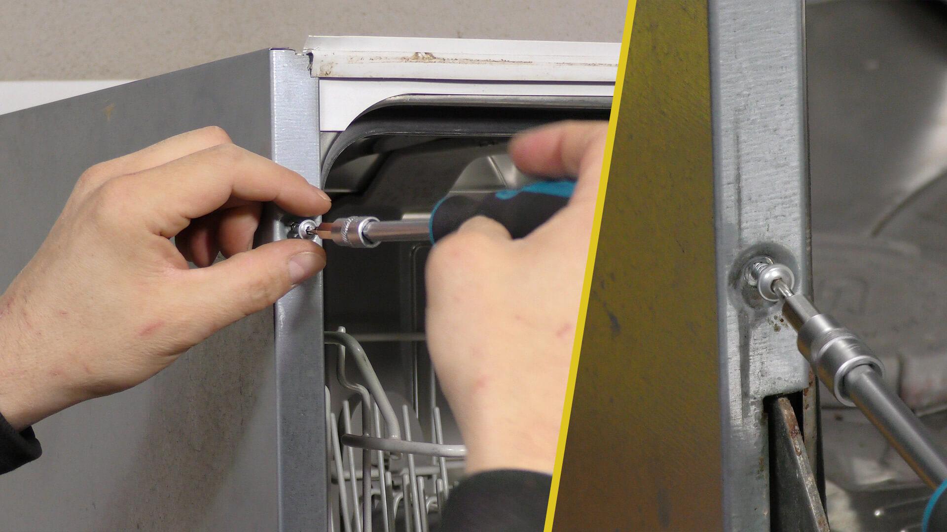 Schrauben der Seitenabdeckung entfernen