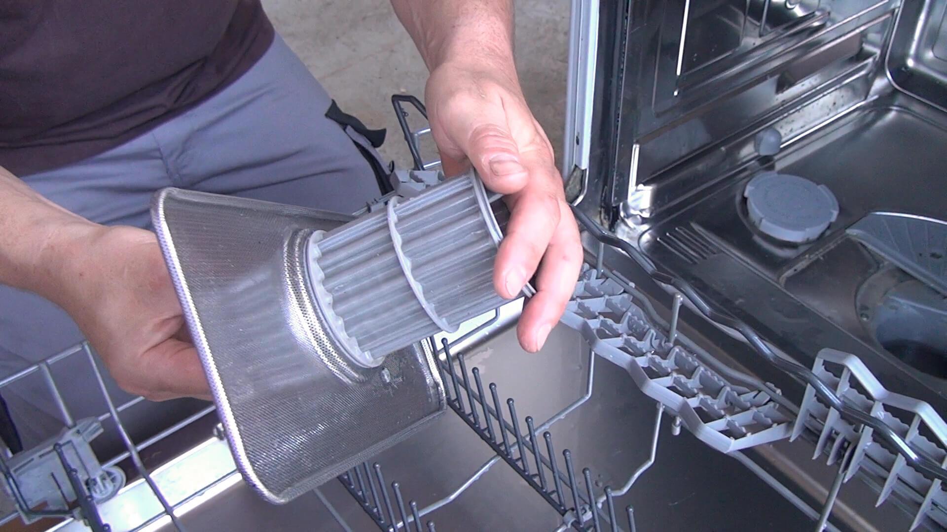 Spülmaschinen Sieb zusammenstecken